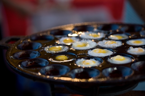 fried quail eggs...